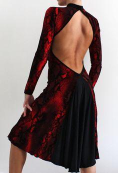Tango Milonga dress www.crinolinatelier.it www.etsy.com/it/listing/207418371/modello-abito-da-ballo-tango-rosso-e?ref=shop_home_active_4