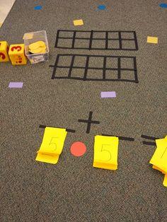 MrsPricesKindergators: Sit Spots and Math: An interactive experience Kindergarten Math Games, 1st Grade Activities, Maths, Math Addition, Addition And Subtraction, Teaching Supplies, Teaching Ideas, Sit Spots, Second Grade Math