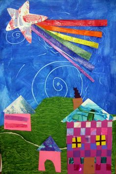 Cassie Stephens: In the Artroom: A Starry Night Collage and Thoughts on Teaching Art