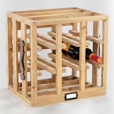 WorldMarket.com: 'Wood Crate Wine Rack'......reminds me of box frames at a Japanese sushi restaurants.... cute for bowl storage display, plants, tea boxes, or bathroom towels