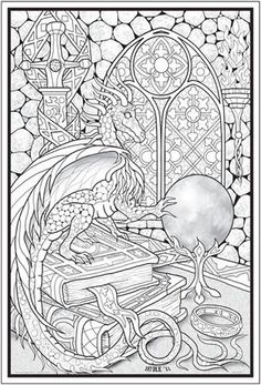 crystal ball coloring pages - photo#30