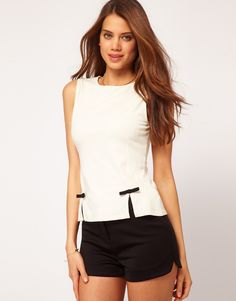 ASOS top with Bow Peplum