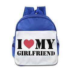 Funny Cool Kids I Love My Girlfriend Bags Kids School Bags -- You can find more details by visiting the image link.