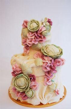 wedding garden cake! I so love love this!