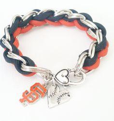 San Francisco Giants Tessuto Style Paracord Bracelet