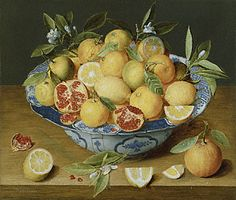 Still Life with Lemons, Oranges and a Pomegranate, Jacob van Hulsdonck, about 1620–40