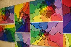 Color wheel lesson – Brookwood elementary art class