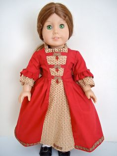American Girl Doll Clothes Felicity Falling by BackInTimeCreations