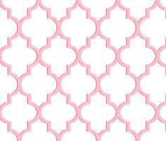 Dimensional Quatrefoil in Pink fabric by sparrowsong on Spoonflower - custom fabric