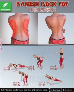 This workout sequence combines both strength training + cardio, which is the most effective way to burn back fat and lean up at the same time. Do this regularly to achieve results in 4 weeks! This workout sequence combines both strength training + Fitness Workouts, Fitness Workout For Women, At Home Workouts, Back Fat Exercises At Home, Yoga Fitness, Upper Body Workout For Women, Back Workout Women, Physical Fitness, Back Workouts For Women