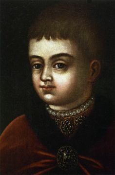 Unknown artist. Portrait of Peter the Great as a child. Detail. Late 17th century. #Russian #history #Romanov