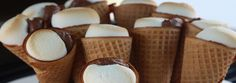 S'mores in a cone? Using a pepper grilling rack, you can make the tastiest s'mores you've ever tried. Just make sure to add extra Just Desserts, Delicious Desserts, Dessert Recipes, Yummy Treats, Sweet Treats, Big Green Egg Grill, Green Egg Recipes, Cookout Food, Party Food And Drinks