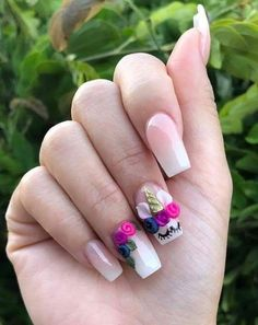 Cutest White Nail Art Designs for Women to Try Now Cute Acrylic Nails, 3d Nails, Coffin Nails, White Nail Art, White Nails, Gorgeous Nails, Pretty Nails, Nails For Kids, Unicorn Nails