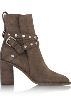 See by Chloé Studded suede ankle boots | NET-A-PORTER