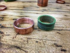 This is 5 Helpful Ideas for New Wooden Ring Makers. I this post, you'll learn five great ideas to help you make better wooden rings right from the beginning. How To Make Rings, Cool Things To Make, How To Memorize Things, Things To Come, Ring Making, Woodworking Books, Wood Rings, Rings Cool, Some Ideas