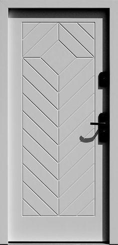 Drewniane wejściowe drzwi zewnętrzne do domu z katalogu modeli klasycznych wzór 543,3