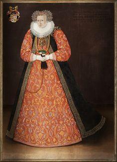 Amalia von Hatzfeld ( ca 1560-1528). Daughter of Vilhelm von Hatzfeld and Sibylla von Rodenhausen. She was Lady-in-Waiting of Duchess Maria av Pfalz.  1592 she married Count Mauritz Stensson Leijonhufvud and they had a daughter, Ebba Mauritzdotter Lewenhaupt. File:Porträtt, Amalia von Hatzfeldt - Skoklosters slott - 87716.tif