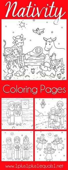 Nativity printablegreat to color or even frame or turn into a - copy christian nursery coloring pages