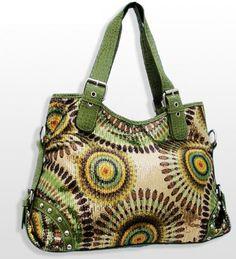 Large Lime Green Crochet Fashion Purse - Handbags, Bling & More!