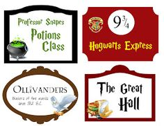 My Cotton Creations: Family Life: Harry Potter Party Free Printables