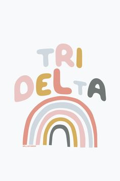 Shop all your favorite Tri-Delta  sorority gifts, jewelry and merch at www.alistgreek.com! #sororitygraphic #sororitywallpaper #gogreekgraphic #tridelta #deltadeltadelta