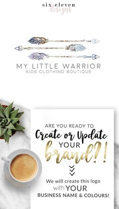289  My Little Warrior LOGO Premade Logo Design Blog, Logo Design, Premade Logo, Branding, Blog Header, Business Logo, Photography, Boutique, Shop, Jewellery, Website,