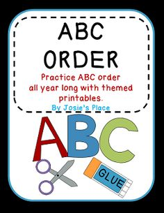 Practice ABC order with these themed cut and paste printables for throughout the year.