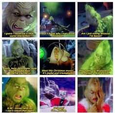 the older you get, the more you realise the Grinch is someone you can truly relate to. Because the older you get, the more you realise the Grinch is someone you can truly relate to. Funny Relatable Memes, Funny Posts, Funny Quotes, Funny Humor, Hilarious Memes, Jurassic World, Grinch Memes, The Grinch Meme, The Grinch Quotes
