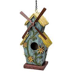 Windmill Birdhouse --- Ye Ol' Mill   Gifts and Décor   By Best Home Products, http://www.amazon.com/dp/B00XJKQD86/ref=cm_sw_r_pi_awdm_x_c4ocyb011ZKFB