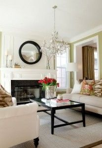 LOVE this tufted chairs white with dark wood accents **
