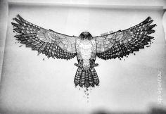 Hawk ~ artist Nouvelle Rita . . . . ღTrish W ~ http://www.pinterest.com/trishw/ . . . . #art #illustration