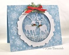 KC Impression Obsession Deer Trio.  Fabulous Christmas card by Kittie Caracciolo.