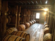 Barrel house full of bourbon at Willet Distillery, Kentucky.