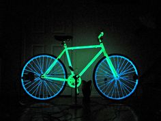 glow in the dark DIY bike