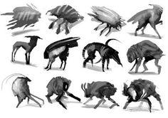 concept creatures speedpainting