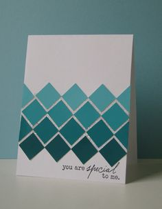 very simple card - love the ombre effect