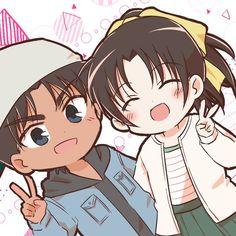 Twitter Conan Movie, Detektif Conan, Conan Comics, Magic Kaito, Anime Love Couple, Cute Anime Couples, Manhwa, Detective, Heiji Hattori