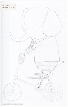 In My Studio: An Elephant on aBicycle - Home - Creature Comforts - daily inspiration, style, diy projects + freebies