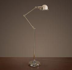 Atelier Task Floor Lamp Polished Nickel