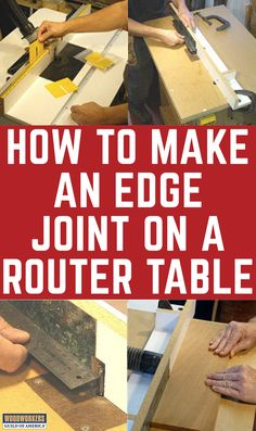 If you own a router table, you have what it takes to create perfect edges for glue up. And thanks to carbide cutters, a router table can joint the edges of abrasive man-made materials like MDF and particleboard, something that can't be done on most jointers (those with steel knives) without ruining the cutters.