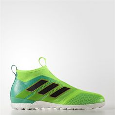 Adidas Ace Tango 17+ Purecontrol Turf Shoes (Solar Green   Core Black   Core ad066db1bd
