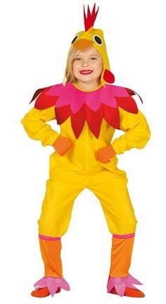 Disfraz de gallinita traviesa para niño y para niña