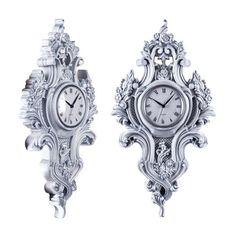 "Часы ""Роккоко"" серебро"