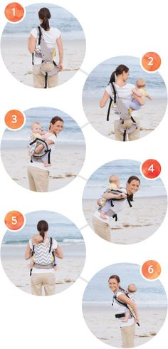 Back Carry Baby Carrier Instructions - How to back carry in your Tula Baby Carrier or Baby Tula Toddler Carrier