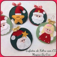 G Felt Christmas Decorations, Felt Christmas Ornaments, Christmas Goodies, Christmas Art, Christmas Themes, Felt Crafts, Christmas Crafts, Christmas Sewing, How To Make Ornaments
