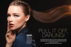 Cosmo Indonesia Hair Spread - September 2013: Pull It Off, Darling!  Photographer: Glenn Prasetya. Stylist: Arinda Christy. Stylist Asst.: Poppy Septia. Makeup: Andy Chun. Hair: Arnold. Model: Anastasia/21MM. Wardrobe: Avanava.  #CosmoIndonesia #MajorBeauty #CosmoBeauty #BeautyBible #Beauty #NailArt #Nail