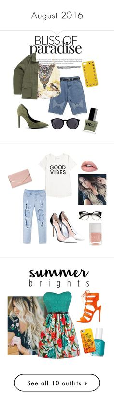 August 2016 by leiiix on Polyvore featuring polyvore, fashion, style, ncLA, Chicnova Fashion, Vans, Kendall + Kylie, Yves Saint Laurent, Valentino, clothing, Sasha, Tommy Hilfiger, Gianvito Rossi, ZeroUV, Nails Inc., Qupid, Essie, Casetify, RAS, Marc Jacobs, Lime Crime, Jeremy Scott, TIBI, Bettie Page, Fujifilm, Lisa Perry, American Eagle Outfitters, Pierre Balmain, Kate Spade, Converse, OPI, Boohoo, Pink, black, choose, Benzara, Wet Seal, thevoice, YahooView, Dsquared2, Carolee and Wilbur…