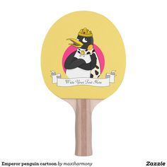 Emperor penguin cartoon Ping-Pong paddle