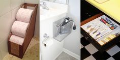 Here are some creative ways to store your stuff — no matter how small your bathroom is.