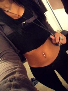 My goal by summer, is to get my belly button double pierced. I need all my piercings back, i miss them.